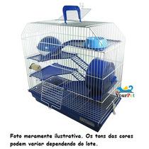 Gaiola Bragança 4 Andares Para Hamster (azull)