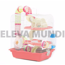 Gaiola Hamster Labirinto Tubos Completa Comedouro
