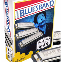 Kit De Gaitas Hohner Blues Band M559 - Cga - Gu0034