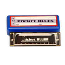 Gaita Pocket Blues 20 Vozes Dó Dolphin + Estojo Hering Stagg