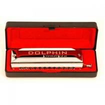 Gaita Dolphin Cromatica 48 Vozes Em Dó Abs 6405 2599
