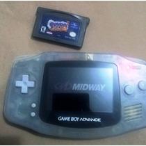 Game Boy Advance Cinza Transparente Com 2 Jogos