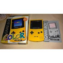 Game Boy Color Amarelo Completo Em Ótimo Estado