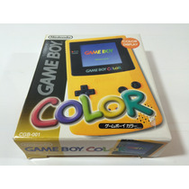 Game Boy Color Japones Amarelo Completo Caixa E Manual
