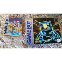 Game Boy Classic Mario Land Nintendo Tudo Original E Usa