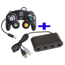 Controle Game Cube Smash Bros Nintendo Wii U + Adaptador