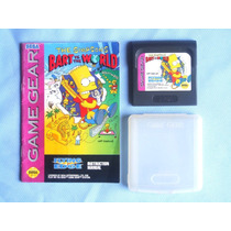 The Simpsons Bart Vs The World - Game Gear - Completo - 1993