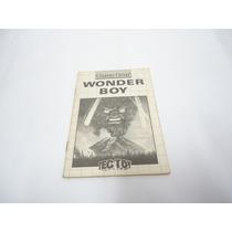Game Gear Manual Original Wonder Boy Tec Toy Nacional