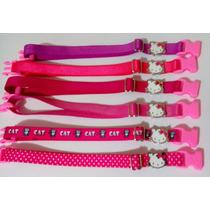 12 Coleiras Elásticas Hello Kitty Para Gatos - Fem/masculino