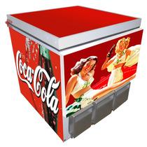 Mini Geladeira De Bar Coca-cola (dispenser De Latinhas)
