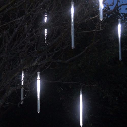 decoracao branco gelo:Gelo Chuva Tubo Led Branco Snow Show Queda Natal Decoração – R$ 29