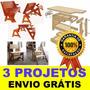 200 Projeto Marcenaria + Cadeira Vira Escada Mesa Vira Banco