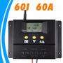 Controlador De Carga Solar 60a 12/24vdc Com Display Lcd