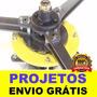 Projeto Gerador Eólico 5.500w+ Projeto Carretinha De Brinde
