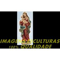 Escultura Barroca Nossa Senhora Mãe Dos Homens Imagem 20cm