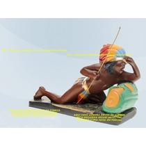 Escultura Caboclo Tupi Guarani 30cm Imagem Melhor Preço Ml