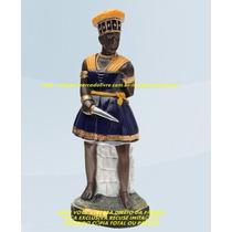 Escultura Orixa Africano Ogum Linda Imagem 40cm Fabrica Ml