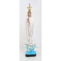 Imagem De Nossa Senhora De Fátima Com Coroa 35cm