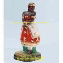 Escultura Orixa Africano Iansã Linda Imagem 25cm Fabrica Ml