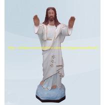 Escultura Jesus Cristo Abençoando Linda Imagem 60cm Promoção