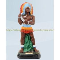 Escultura Caboclo Lua 40cm Altura Melhor Preço Do Ml