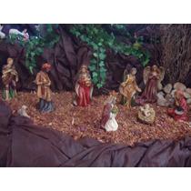 Presépio De Natal Em Resina 20cm 11 Peças - Fino Acabamento