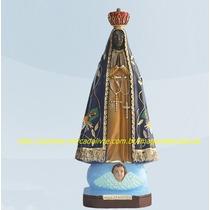 Escultura Nossa Senhora Aparecida Linda Imagem 40c Sem Juros