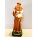 Imagem Santo Antonio Escultura Em Gesso Estatua Com 30