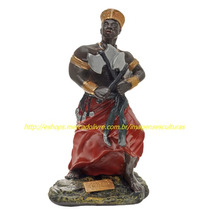 Escultura Orixa Africano Xango Linda Imagem 23cm Fabrica Ml