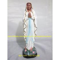 Escultura Artesanal Nossa Senhora Lourdes Linda Imagem 20cm