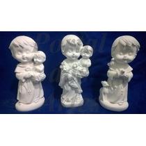 Kit 40 Imagens Santos Católicos Em Gesso Infantil Baby 15 Cm