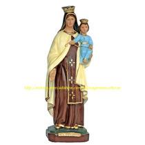 Escultura Nossa Senhora Carmo Linda Imagem 40cm Fabrica