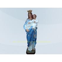 Escultura Nossa Senhora Auxiliadora Linda Imagem 40cm Santa