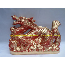 Escultura Dragão Chines Linda Imagem 30cm Preço De Fabrica