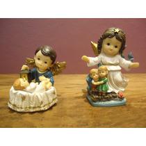 Imagens Resina Anjos Da Guarda Infantil 10cm.