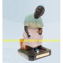 Linda Escultura Preta Velha Mãe Conga 20cm Melhor Preço Ml