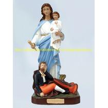Escultura Nossa Senhora Da Penha Linda Imagem 60cm Fabrica