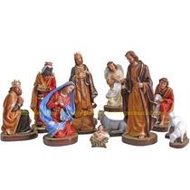 Presépio Natal Especial Natal 12 Peças Escultura De Até 40cm