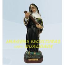 Escultura Santa Rita De Cassia Linda Imagem 30cm Promoção Ml