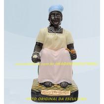 Escultura Preta Velha Vovó Cambinda Imagem 25cm Promoção Ml