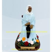 Escultura Preta Velha Nha Chica Linda Imagem 20cm Promoção