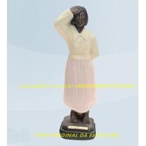Escultura Preta Velha Mãe Maria Redonda Imagem 40cm Promoção