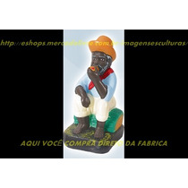 Escultura Pai Preto Velho Pode Escolher Nome Imagem 20cm