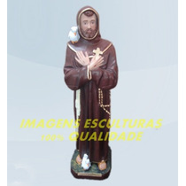 Escultura São Francisco De Assis Linda Imagem 20cm Promoção
