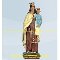 Escultura Nossa Senhora Carmo Linda Imagem 60cm Fabrica