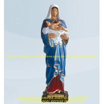 Escultura Nossa Senhora Bom Parto Linda Imagem 20cm Fabrica