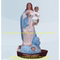 Escultura Nossa Senhora Navegantes Linda Imagem 60cm Fabrica