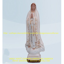 Escultura Nossa Senhora Fatima Linda Imagem 60cm Fret Gratis