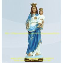 Escultura Nossa Senhora Da Guia Linda Imagem 60cm Fabrica