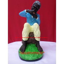 Escultura Preto Velho A Ser Nomeado Linda Imagem 50cm Fabric